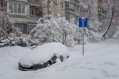 强的2月降雪 库存图片