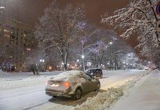强的2月降雪 图库摄影