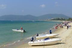Yalong海湾在萨尼亚,海南 库存图片