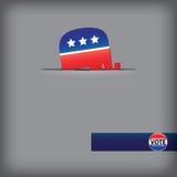 当事人共和党人符号 库存照片