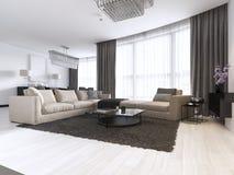 当代客厅装饰和设计  皇族释放例证