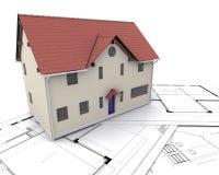 当代房子 向量例证