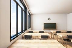 当代木教室 库存例证