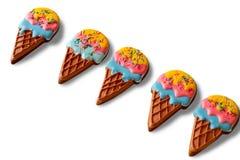 当冰淇凌被塑造的饼干 库存图片