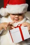 当前圣诞老人 免版税库存图片
