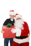 当前圣诞老人 库存照片