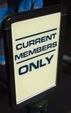 当前成员符号 免版税图库摄影