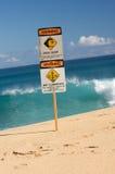 当前符号海浪警告 免版税图库摄影