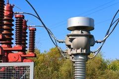 当前高变压器电压 库存图片