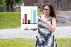 当前统计报告的妇女 图库摄影