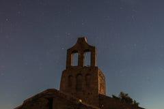 当圣所是夜照片的主演 免版税库存图片
