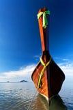 当地泰国样式小船 免版税库存照片