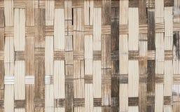 当地泰国样式竹子墙壁 免版税库存图片