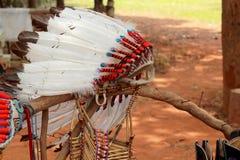 当地美洲印第安人首要头饰 免版税库存照片