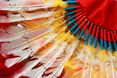 当地美洲印第安人首要头饰 库存图片