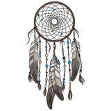 当地美洲印第安人dreamcatcher 免版税库存照片