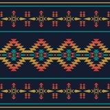 当地西南美国,印地安,阿兹台克,几何无缝的轻拍 免版税库存图片