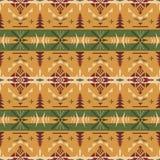 当地西南美国,印地安,阿兹台克,几何无缝的轻拍 库存图片