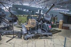 德国反航空器枪电池 免版税库存照片