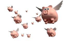 当猪飞行小组 向量例证