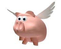 当猪飞行 皇族释放例证