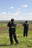 当班边界的警察 免版税图库摄影