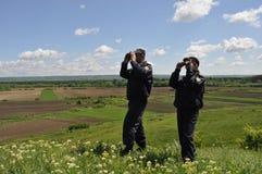 当班边界的警察 库存图片