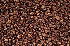 当背景是豆装使用的咖啡纹理于罐中 库存图片