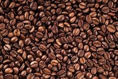 当背景是豆装使用的咖啡纹理于罐中 免版税库存图片