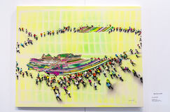 当代伊斯坦布尔艺术展 免版税库存图片