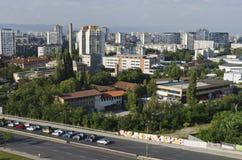 当代保加利亚房子一个住宅区在城市索非亚 免版税库存照片