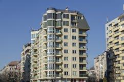 当代保加利亚房子一个住宅区  库存照片
