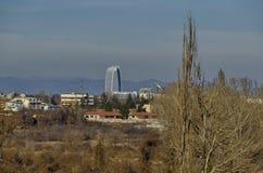 当代保加利亚房子一个新的住宅区在城市索非亚 库存图片