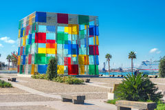 当代博物馆篷皮杜中心多彩多姿的立方体在Mala 免版税库存图片