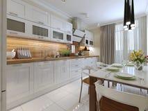 当代厨房设计 免版税库存图片