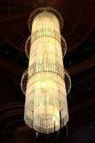 当代玻璃枝形吊灯 免版税库存图片