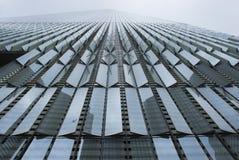 当代建筑学-一个世界贸易中心门面  免版税库存图片