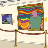 当代艺术画廊 库存例证