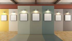 当代艺术画廊 库存照片