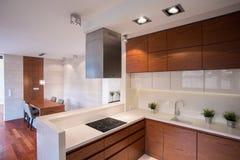 当代装饰的厨房 免版税库存图片