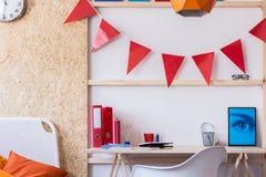 当代青少年的室设计 免版税库存照片