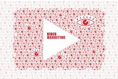 录影和网上营销概念 向量例证