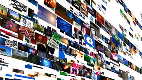 录影墙壁媒介放出(HD) 向量例证