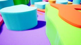 录影的抽象颜色曲线介绍 库存例证