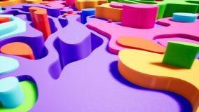 录影的抽象颜色曲线介绍 皇族释放例证