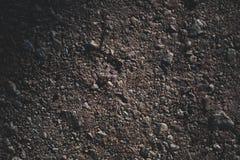 录影的背景-地面和pebbels 免版税库存照片