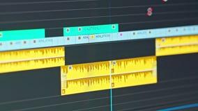 录影编辑时间安排-审阅夹子和框架的编辑 股票视频