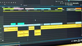 录影编辑时间安排-审阅夹子和框架的编辑 股票录像
