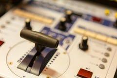 录影调转工控制台 免版税库存图片