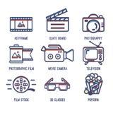 录影象 向量例证